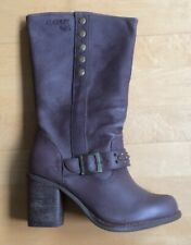 Coolway Ladies Leather Pull On Boots Brown New Size 3 Uk
