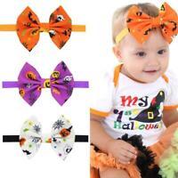 Kids Girls Baby Headband Toddler Bow Halloween Hair Band Accessories Headwear