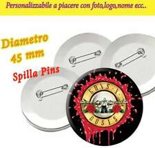 Spilla 4,5 cm Spillina Pins Collezione Guns N'Roses Not in this Lifetime Tour