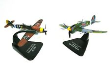 SET OF 2 AIRCRAFTS 1:72 Atlas WW2 - HAWKER + MESSERSCHMITT D DAY - MODEL 007