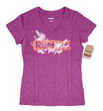 Reebok - da DONNA M - Nuova con Etichetta $25 - Rosa Manica Corta Scollo a V
