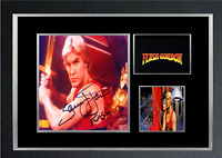 FLASH GORDON MOVIE AUTOGRAPHED MOUNTED PRINT