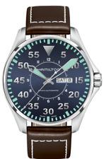 Hamilton Khaki Aviation Pilot Auto Blue Dial Leather Band Men's Watch H64715545