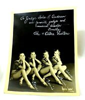 Vintage Real Photo Signed THE 4 ALBEE SISTERS Photograph MAURICE SEYMOUR Dancers