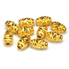Pure Solid 24K Yellow Gold Ellipse Bead / Pendant WHOLESALE   1 PCS