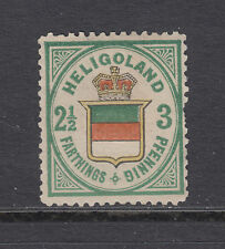 Heligoland Sc 20 MNG. 1876 3pf Coat of Arms, reprint or forgery