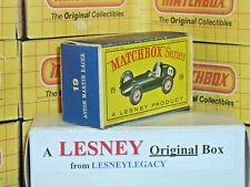 Matchbox Lesney 19c Aston Martin Racing Car Type D EMPTY ORIGINAL BOX ONLY