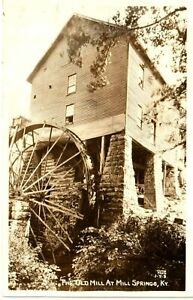 1947 RPPC The Old Mill at Mill Springs, KY Kentucky PC Cline