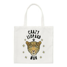 Crazy Leopard Man Regular Tote Bag Funny Animal Shopper Shoulder