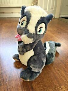 """Disney Grey Bambi Flower Skunk 12"""" Soft Plush Toy"""