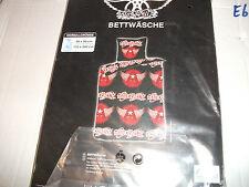 Bettwäsche Garnitur mit Motiv Aerosmith, 135x200cm, Neu