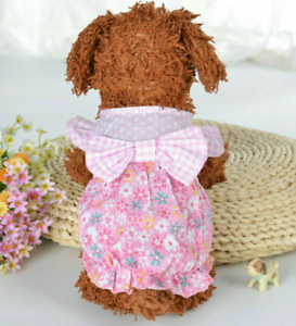 Cute Dog Tutu Dress Bow Lace Skirt For Pet Puppy Dog Cat Clothes Costume Wedding