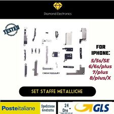 🔝Set Staffe Metalliche Kit Piccole Parti Supporti Metal iPhone 6 6s 7 8/Plus X