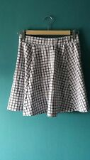New Look Skirt. Size 8. Grey & Black Grid. Skater / Short. Great condition.