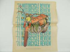 Vintage 1971 Motorcycle Review Newspaper Philadelphia PA Honda CB750 BSA L4907