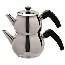 Traditional Turkish Tea Pot Stainless Steel Ossa Caydanlik Mini - UK free post