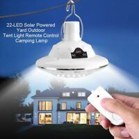 22LED Outdoor / Indoor Solar Lamp Hooking Camp Garden Lighting Remote Control