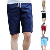 Herren Bermudas Shorts Hosen Baumwolle Breathable Slim Fit Kurzhose Casual Mode