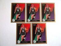Lot of 5 - 1990 SkyBox Larry Bird #14 NBA Basketball Trading Cards