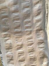 "Pottery Barn Teen Seersucker Stripe Blackout Curtain Panel 84"" Gray NEW"