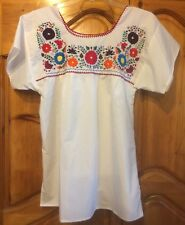 embroidered hippie boho mexican peasant blouse L / XL