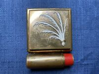 Vintage Yardley London Lipstick Powder Rouge Triple Compact Makeup Mirror Vanity