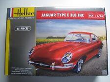 JAGUAR TYPE E 3l8 Kit HELLER 85 pièces échelle 1:24 Neuf dans sa boîte NEUF