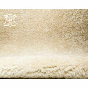 Italian Lambskin Shearling Hides // Warm Double Sided Shearling Fabric // CREAM