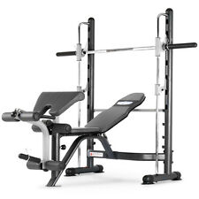 Marcy TSA-5762 Half Smith Machine Rack & Adjustable Workout Weight Bench Press
