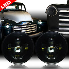 2pcs LED Headlights Headlamps Black for Chevy Truck 1947-1957 and 1962-1972