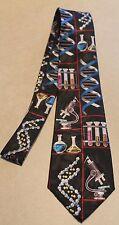 New Chemistry Science Microscope DNA Teacher Lab Scientist Black Neck Tie!