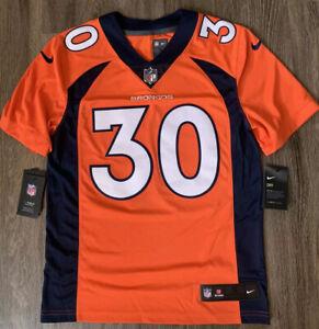 NWT Nike NFL Stitched Jersey Denver Broncos Terrell Davis #30 Mens Sz Small $150