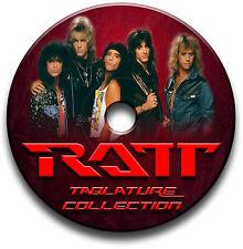 RATT GLAM METALL SCHWER ROCK GUITAR ETIKETTEN TABLATURE LIED BUCH SOFTWARE CD