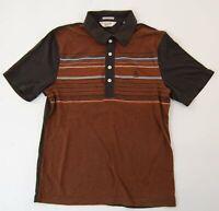 Penguin Heritage Slim Fit Poloshirt Polohemd Herren Gr.S braun gestreift -S931