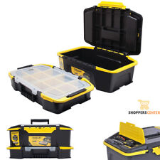 STANLEY TOOL BOX STORAGE ORGANIZER 20'' Portable Stackable Plastic Chest USA NEW