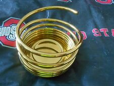 """PARTYLITE SOLID BRASS SPIRAL 3"""" CANDLE HOLDER P0210 Retired"""