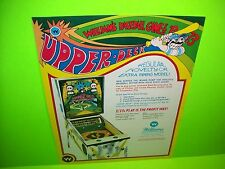 Williams UPPER DECK Original 1973 NOS Baseball Pitch & Bat Pinball Machine Flyer