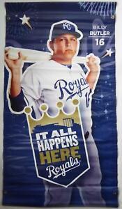 Billy Butler Kansas City Royals Vinyl Banner Poster 30x54