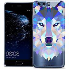 Coque Housse Etui Pour Huawei P10 Polygon Animal Souple Fin Loup