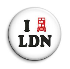 I Love London Bus Cute Funny Button Pin Badge - British Gift 38mm/1.5 inch