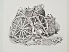 "James Asher ""Cart"" Hand Signed Original Lithograph"