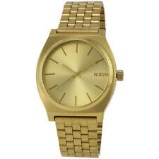 Relojes de pulsera de acero inoxidable dorado de acero inoxidable dorado resistente al agua