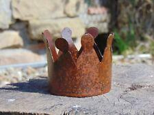 Krone Klein Edelrost rostig Blumentopf Schale Metall Gartendeko Rostkrone