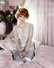 CLARA BOW IN A PINK BEDROOM 8X10 BEAUTIFUL COLOR PHOTO BY CHIP SPRINGER