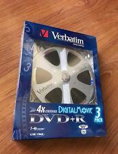 VERBATIM DVD+R DIGITAL MOVIE  3 PACK