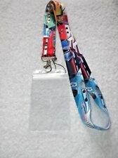 DISNEY CARS LANYARD & Plastic ID CARD BADGE PASS HOLDER Lightning McQueen