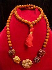 Rudraksh Rudraksha 2 3 4 5 6 Mukhi Beads 16-18 mm Mala Necklace Yoga Meditation