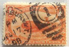 1898 USA 2 C indiano caccia Buffalo FRANCOBOLLO USATO