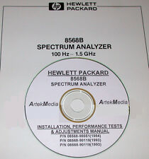 HP 8568B INSTALL, TEST AND ADJUSTMENT MANUAL 3 VOLUMES