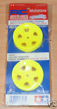 Tamiya 53327 Voltec Fighter Front Wheels (Fluorescent Yellow) RC Boy's 4WD Racer
